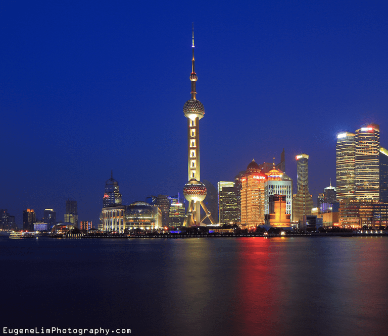This TV and radio tower is a landmark of Shanghai