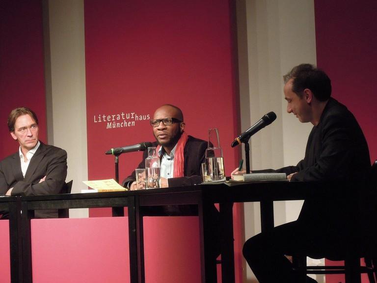 Teju Cole at his reading at Literaturhaus Munich
