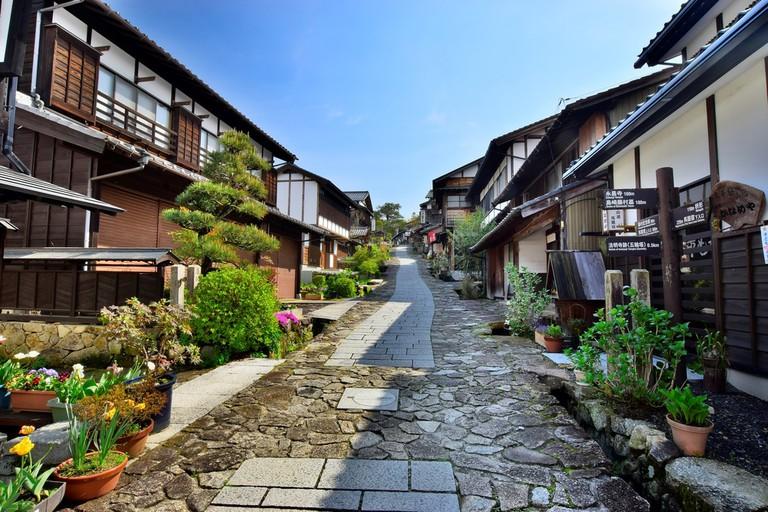Old Japanese road, Nakasendo's station town, Magome-jyuku | © leochachaume24/Shutterstock