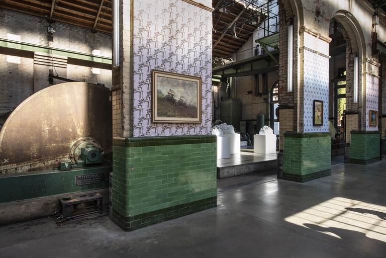 Installation view of 'Focus Kazakhstan' at Wapping Hydraulic Power Station