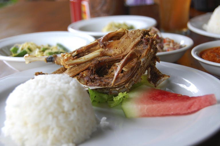 Flash fried duck at Bebek Bengil