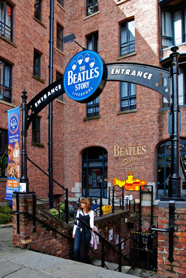 The Beatles story museum at the Albert Dock in Liverpool