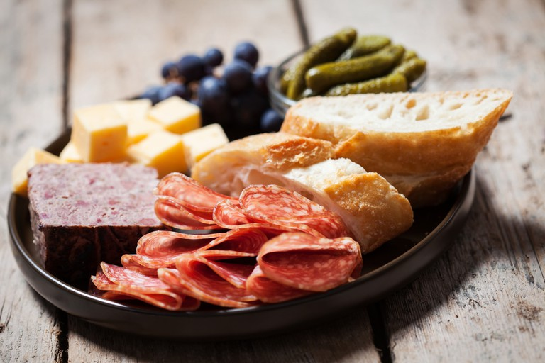 The house-cured charcuterie plate is the perfect choice