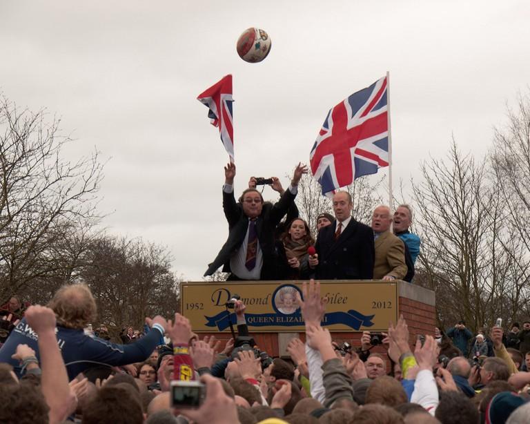 The Royal Shrovetide Football at Ashbourne