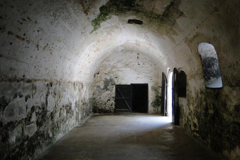 Interior of Slave Cells - St. George's Castle - Elmina - Ghana