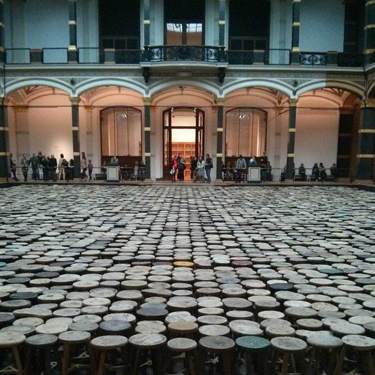Contemporary artist Ai Weiwei's exhibition in Berlin