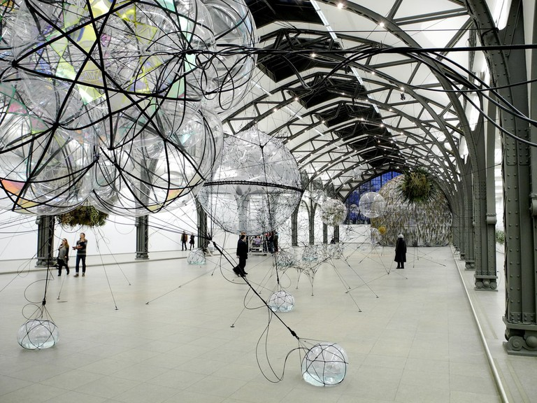 Tomás Saraceno's Cloud Cities at Hamburger Bahnhof
