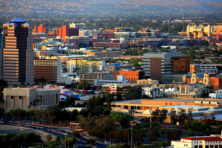 The downtown section of Tucson