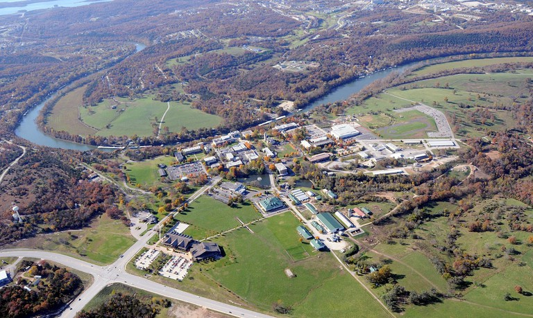 AP College of the Ozarks Aerial