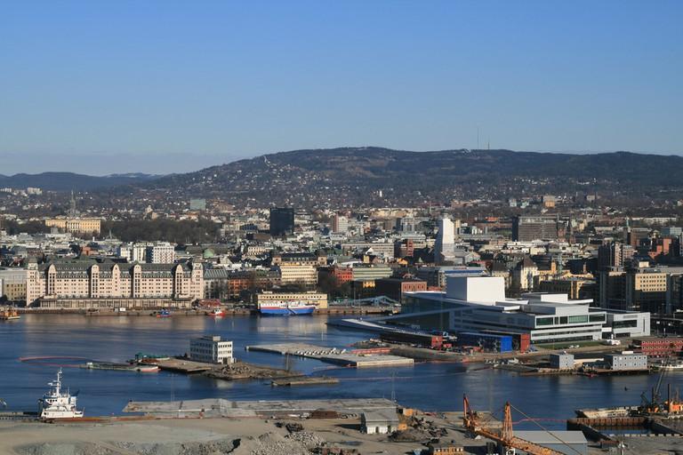 View of Bjørvika bay