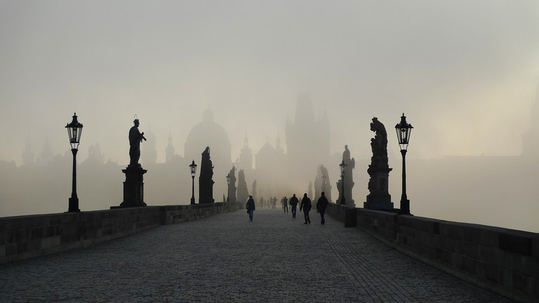 Charles Bridge in the mist