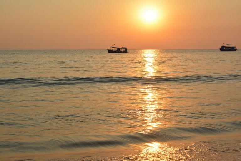 Koh Rong Samloem at sunset