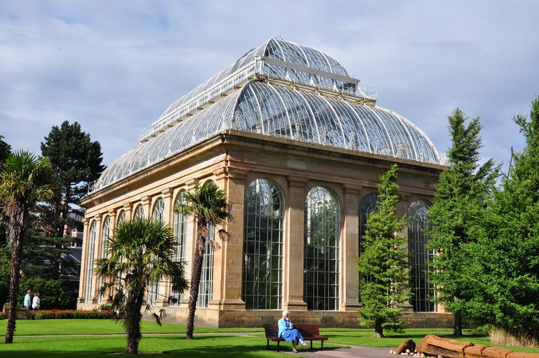 The greenhouse at Edinburgh's Royal Botanical Gardens