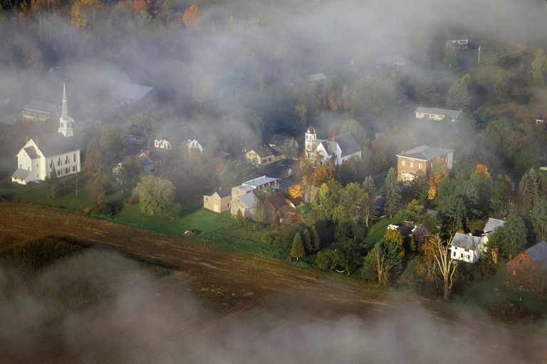 Small town of Waitsfield, Vermont