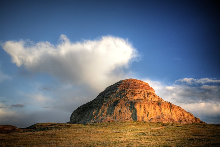 Castle Butte in Big Muddy Valley, Canada