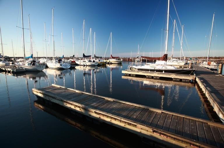 Gimli Marina on Lake Winnipeg, Canada