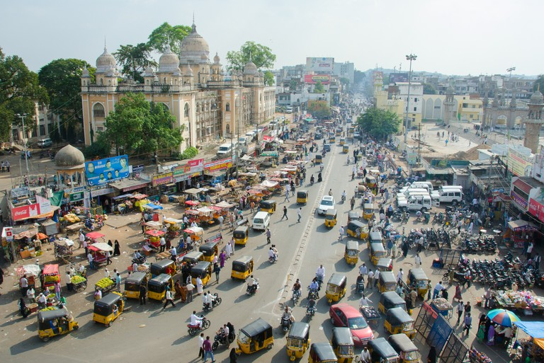A view from the top of Charminar