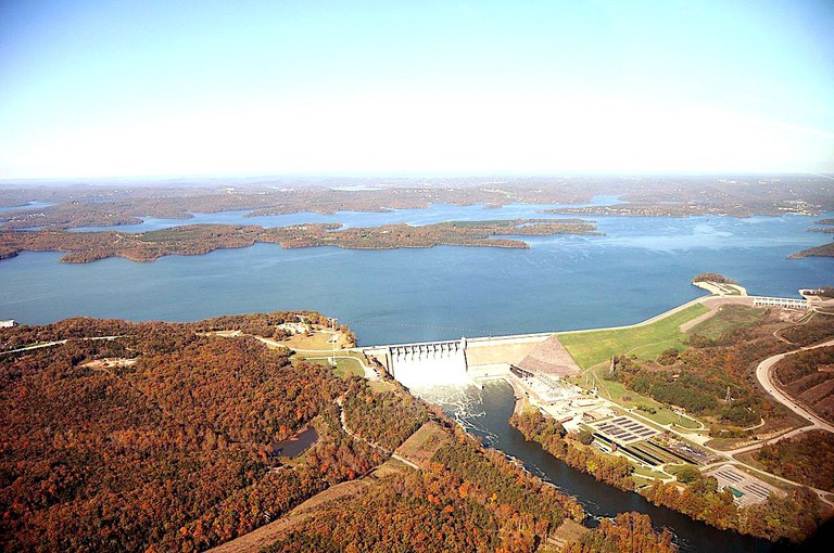Aerial Photo of Table Rock Lake in Branson, Missouri