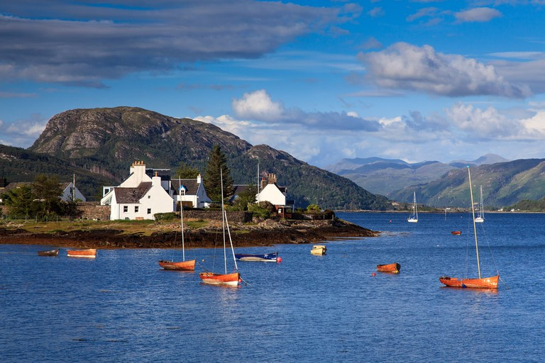 Village of Plockton in Scotland, UK