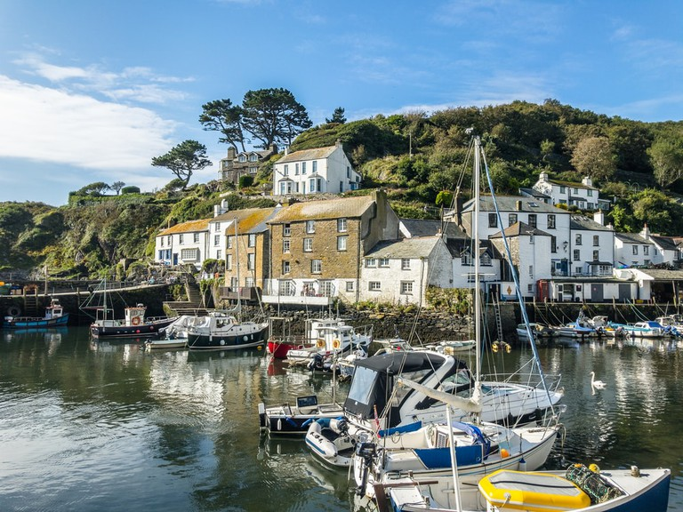 The harbour of Polperro, UK