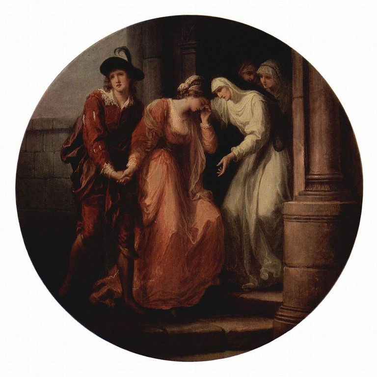 Parting of Abelard and Heloise by Angelica Kauffman, 1780 © Wikicommons media