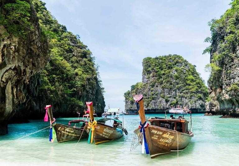 Thai boats in Koh Phi Phi