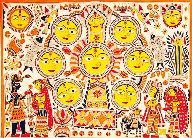 Kohbar of Mithila by Padma Shri Sita Devi