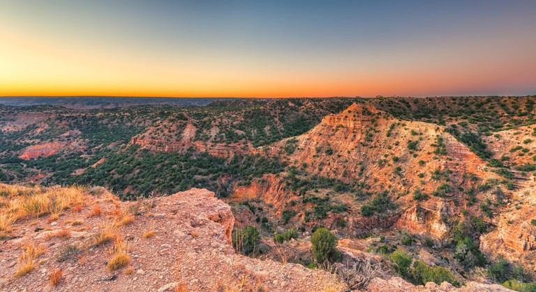Sunrise at Palo Duro Canyon, Texas