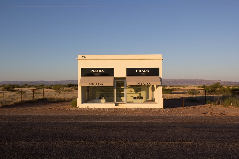 The Marfa Prada sculpture on US route 90
