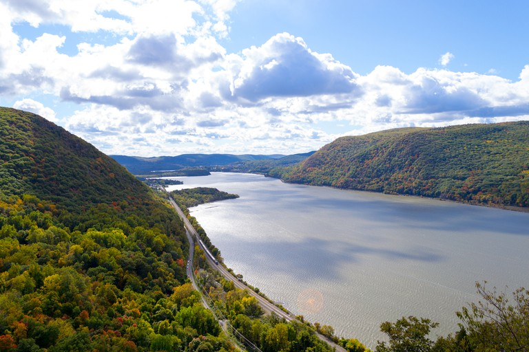 Breakneck ridge to Cold Spring during the fall season, Cold Spring NY