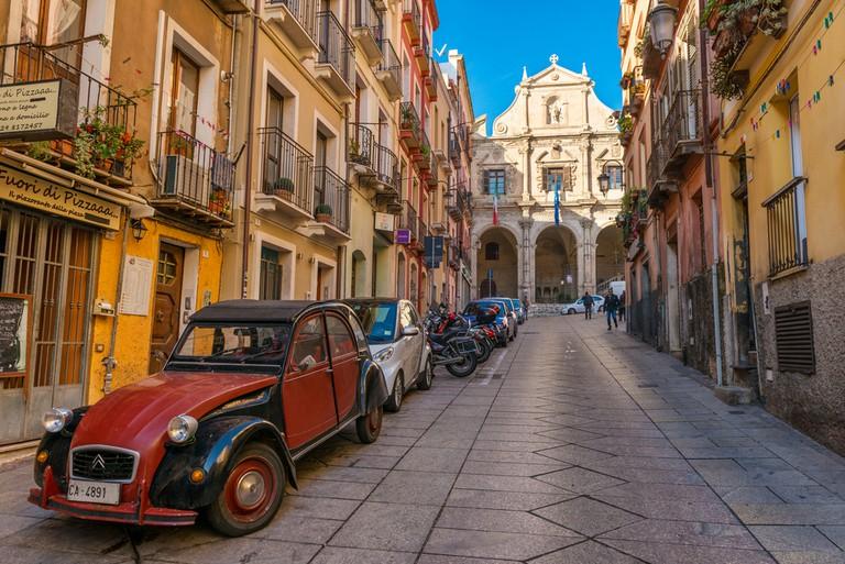 Stunning back street in Cagliari