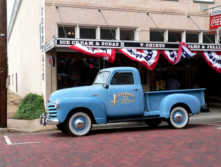 Vintage truck and general store in Jefferson, Texas