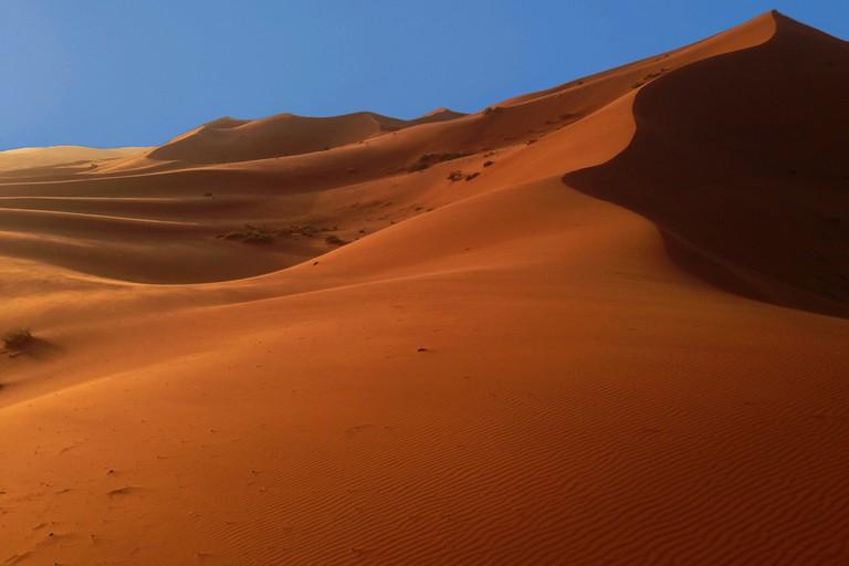 Sand Dunes Near Merzouga