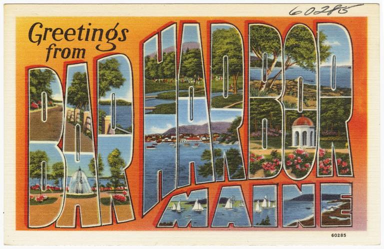A popular destination since the 19th Century Bar Harbor, Maine ©Boston Public Library