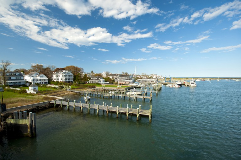 View on Edgartown Harbour, New England, Massachusetts, USA