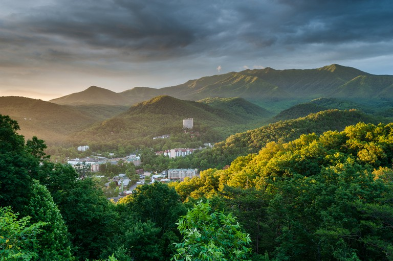 Gatlinburg Tennessee Great Smoky Mountains Sunrise Scenic