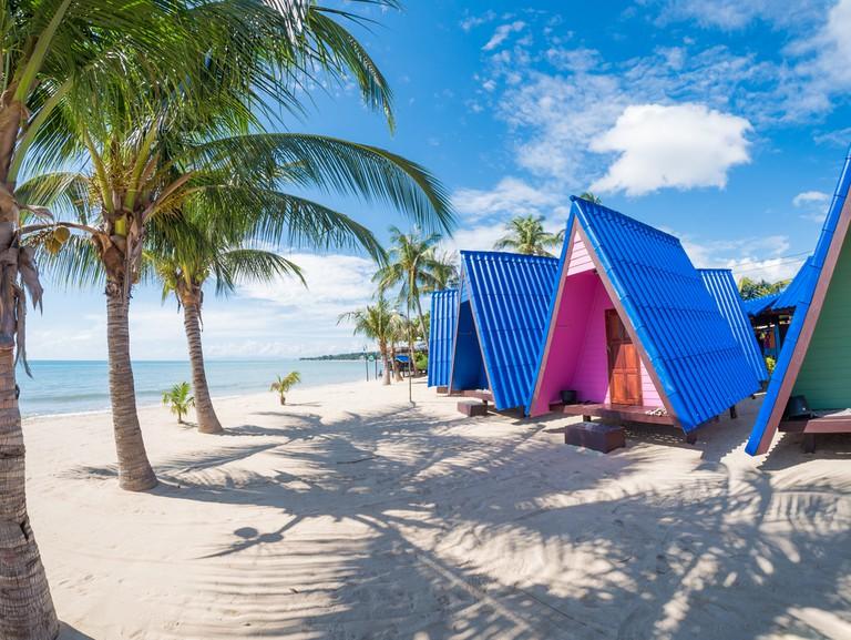 Tropical resort on the beach in Koh Samui, Thailand