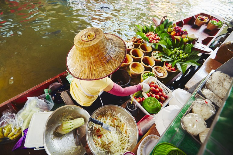 Cuisine on the boat – Bangkok, Thailand