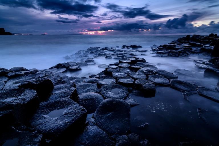 Giant's Causeway, Co. Antrim, Northern Ireland. Sunset © slawomir.gawryluk / Shutterstock