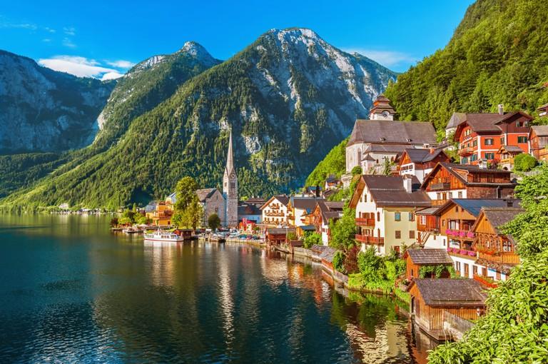 Hallstatt village in the Austrian Alps