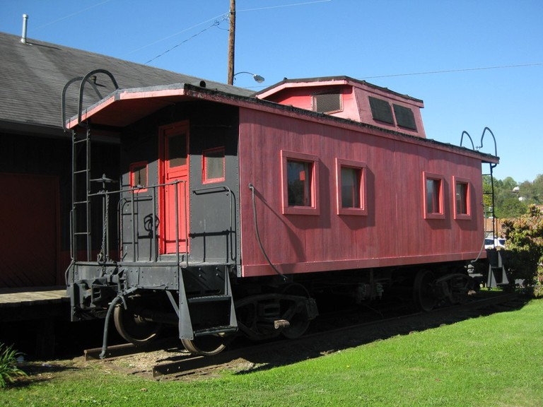 Old rail carriage converted into a heritage museum