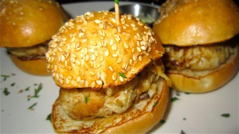 Mini me: crab slider burger