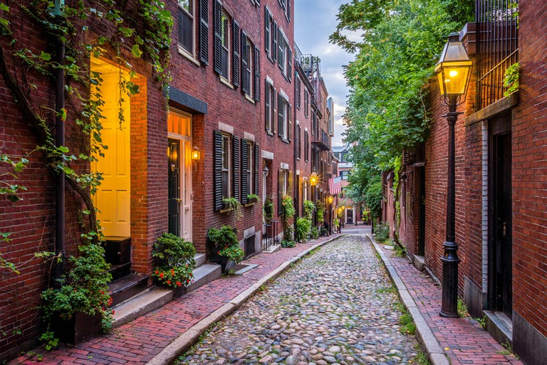 Acorn Street used to be the home of Boston artisans