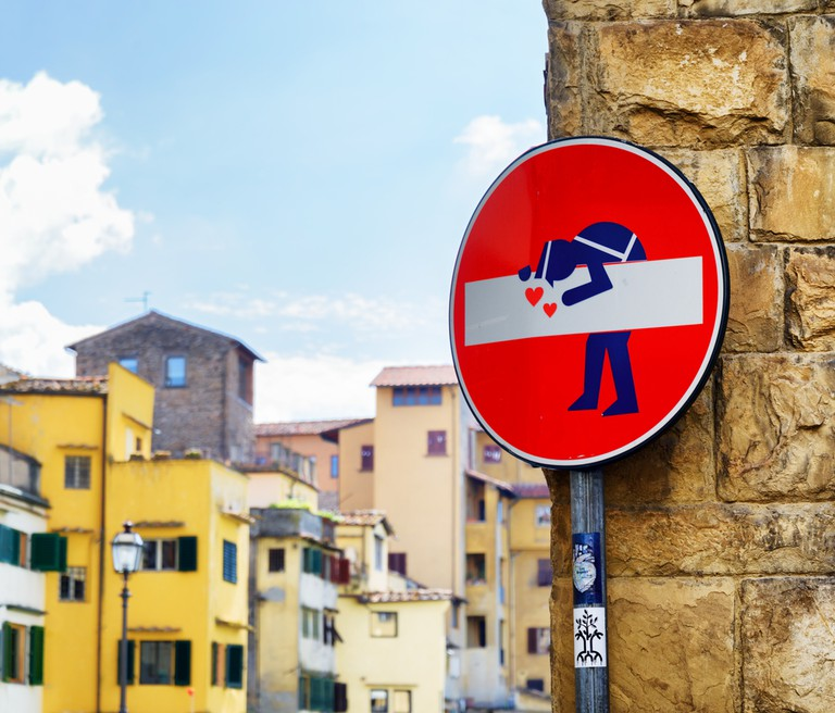 Street art at historic center of Florence