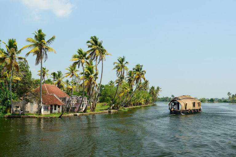 Houseboat in Kerala's backwaters