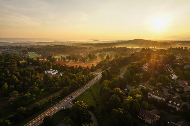 Sunrise over Charlottesville