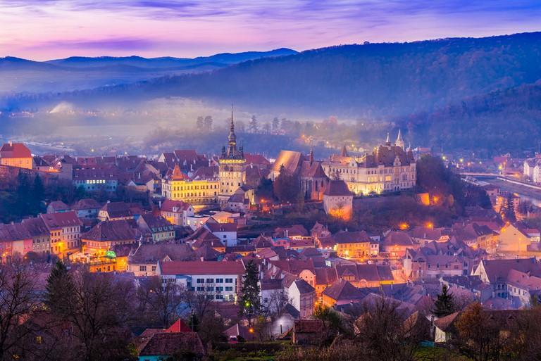The medieval fortress Sighisoara city, Transylvania, Romania