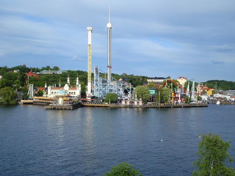 A view of Gröna Lund, Stockholm