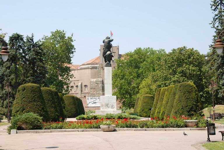 Statue in Kalemegdan Park