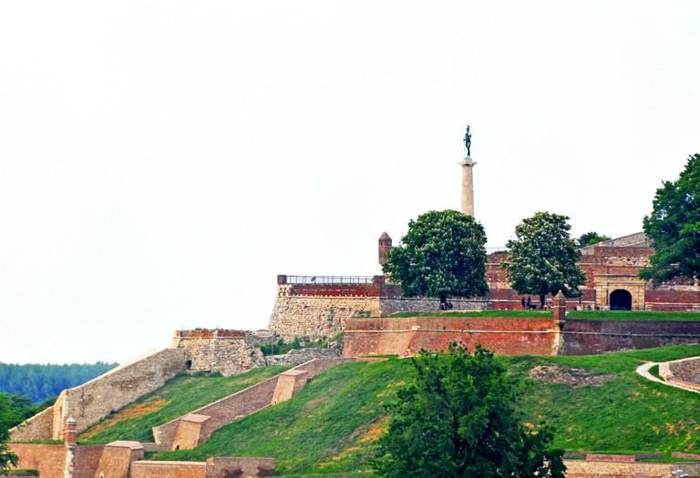 The Pobednik monument stands tall over Kalemegdan